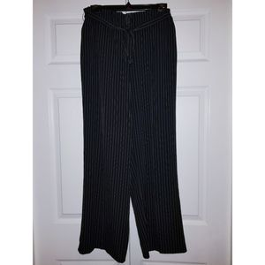 Pants - NWOT Wide Leg High Waisted Belted Pinstripe Pants